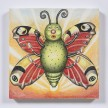 Samantha Rosenwald. <em>Peepee the Caterpillar Dreams of Flying Free</em>, 2019. Colored pencil on canvas, 14 x 14 inches (35.6 x 35.6 cm) thumbnail