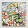 Samantha Rosenwald. <em>Peepee the Caterpillar Ruins a Picnic</em>, 2020. Colored pencil on canvas, 30 x 30 inches (76.2 x 76.2 cm) thumbnail