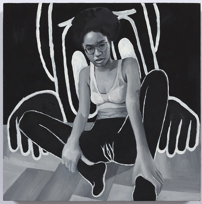 Brittany Tucker. <em>Nightmare 1</em>, 2020. Oil on panel, 11 3/4 x 11 3/4 inches (30 x 30 cm)