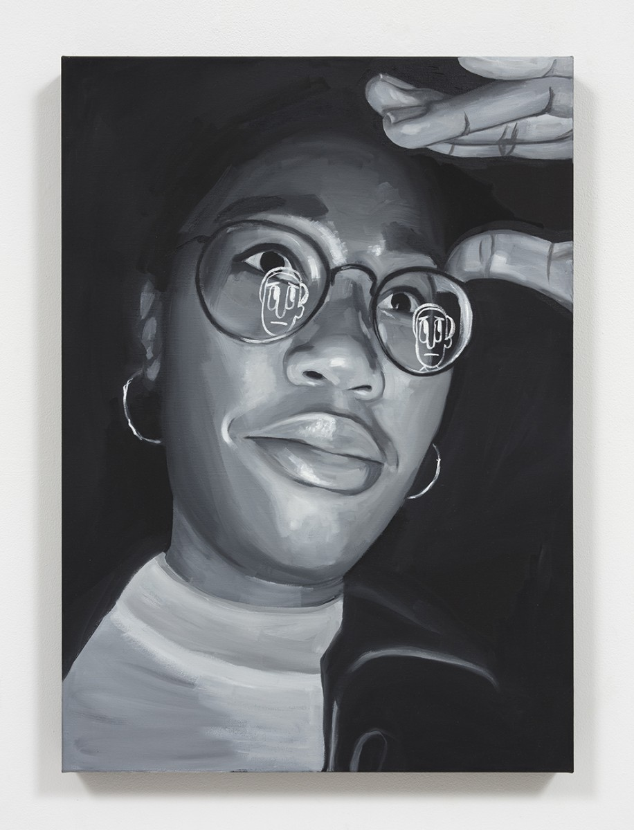Brittany Tucker. <em>Excuse me?</em>, 2020. Oil on canvas, 27 1/2 x 19 5/8 inches (70 x 50 cm)