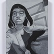 Brittany Tucker. <em>Wig</em>, 2020. Oil on canvas, 15 3/4 x 11 3/4 inches (40 x 30 cm) thumbnail