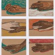 Brittany Tucker. <em>Hand Story</em>, 2020. Pastel on paper, 5 5/8 x 8 1/4 inches (15 x 21 cm) each thumbnail