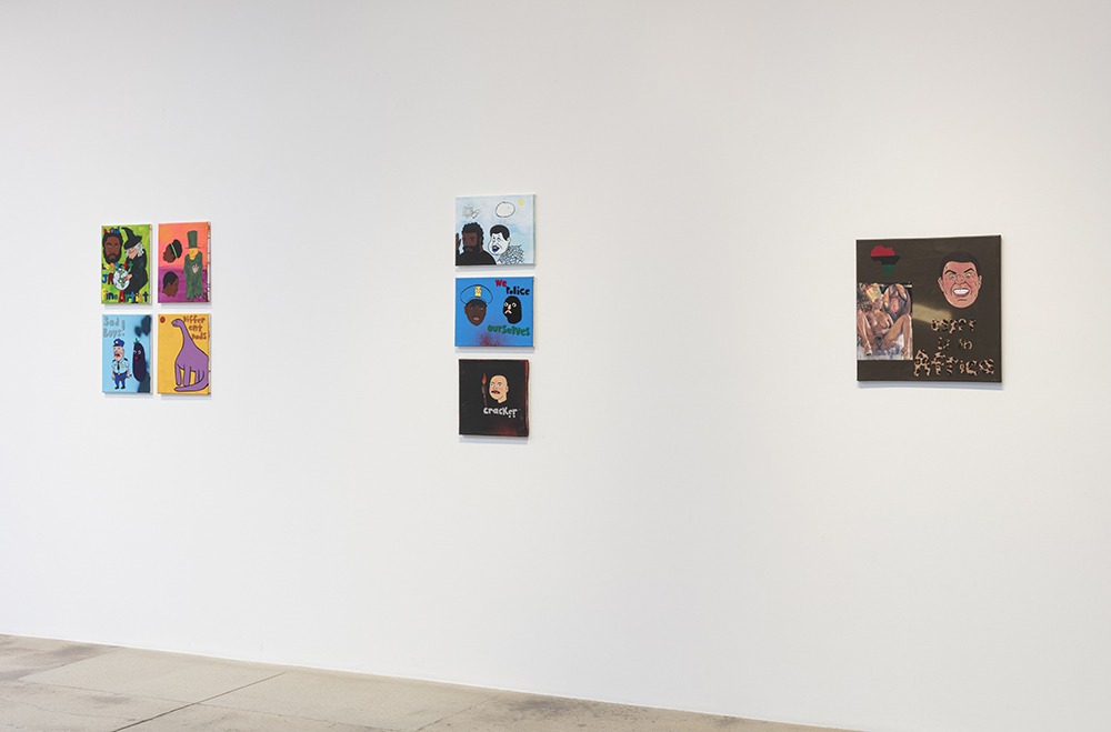 <em>Why you really mad?</em> Installation view, Steve Turner, 2020