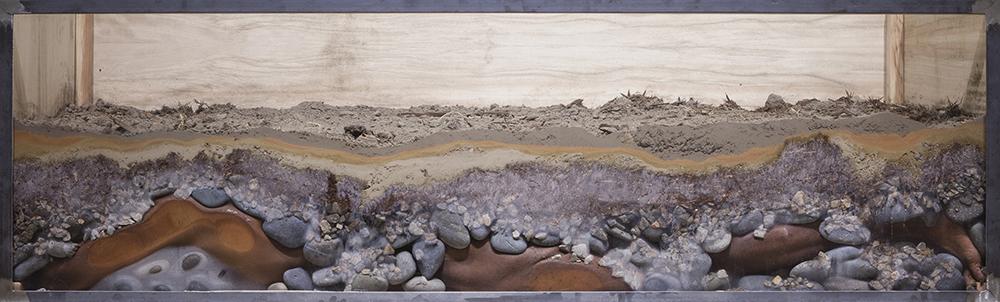 Carlos Martiel. <em>Ciudad</em>, 2015. Edition 3 of 3 + 2 AP, Infused aluminum print, 14 1/2 x 48 inches (36.8 x 121.9 cm)