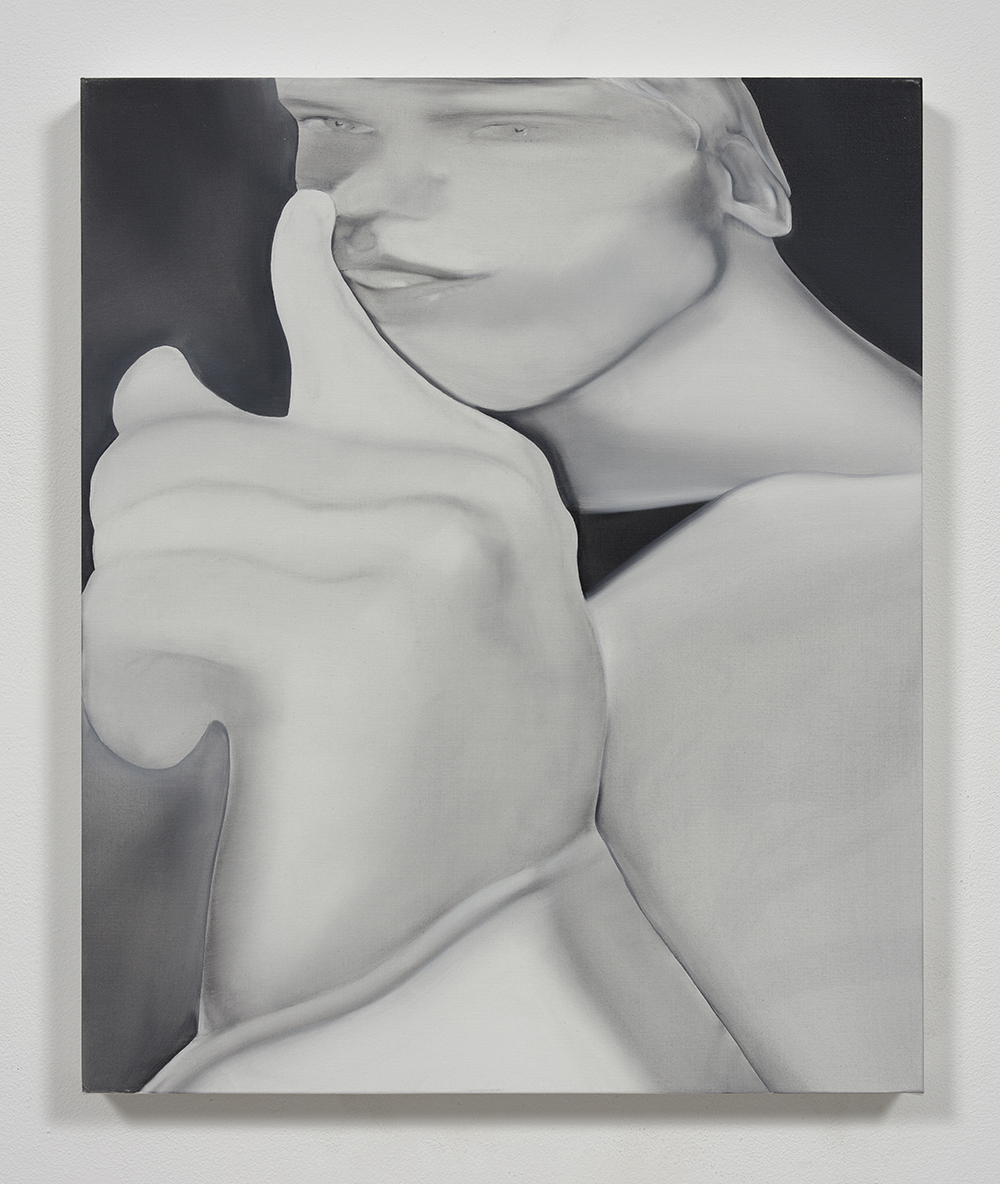 Jingze Du. <em>Night</em>, 2020. Oil on linen, 23 5/8 x 19 5/8 inches (60 x 50 cm)