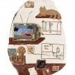 Kevin McNamee-Tweed. <em>Petrarcha</em>, 2020. Glazed ceramic, 12 x 8 3/4 inches (30.5 x 22.2 cm) thumbnail