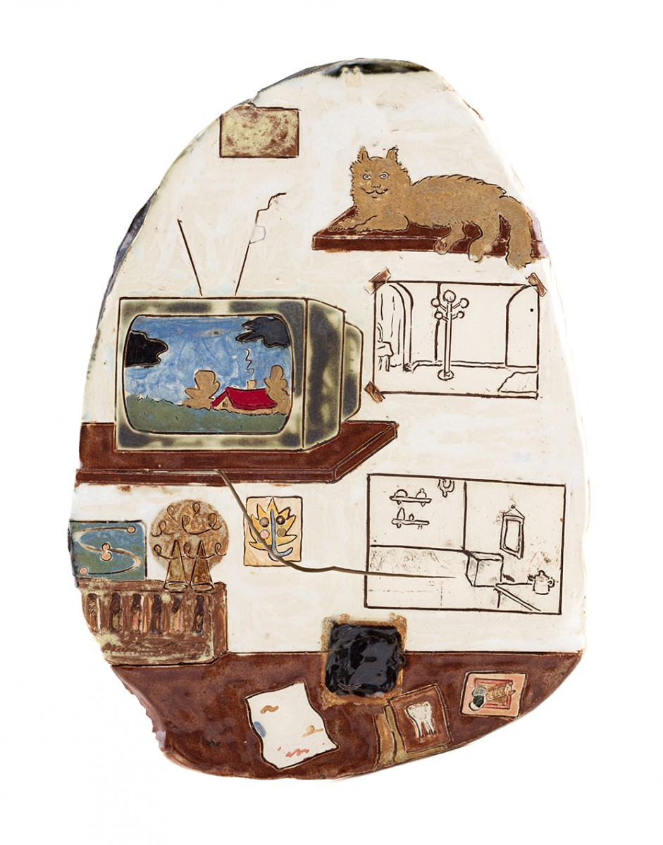 Kevin McNamee-Tweed. <em>Petrarcha</em>, 2020. Glazed ceramic, 12 x 8 3/4 inches (30.5 x 22.2 cm)