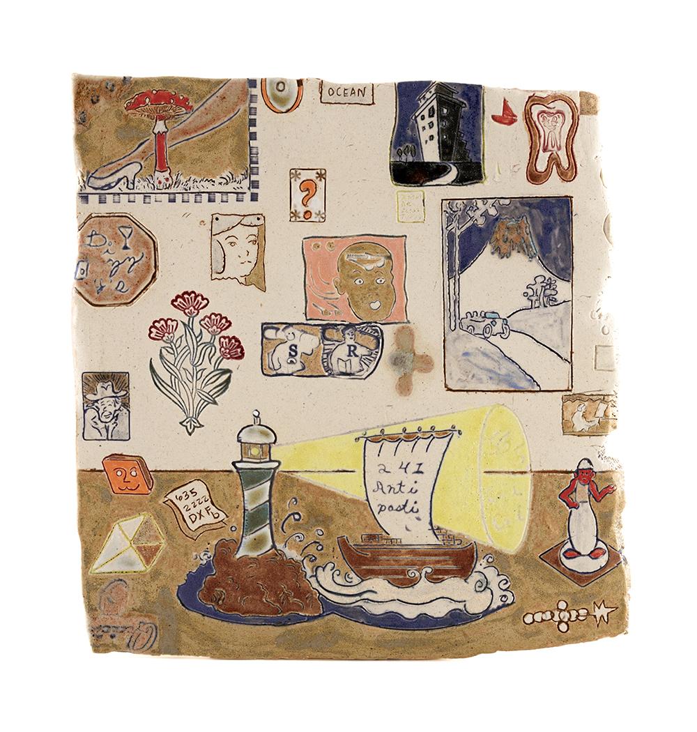 Kevin McNamee-Tweed. <em>241-anti-pasti</em>, 2020. Glazed ceramic, 10 3/4 x 10 inches (27.3 x 25.4 cm)