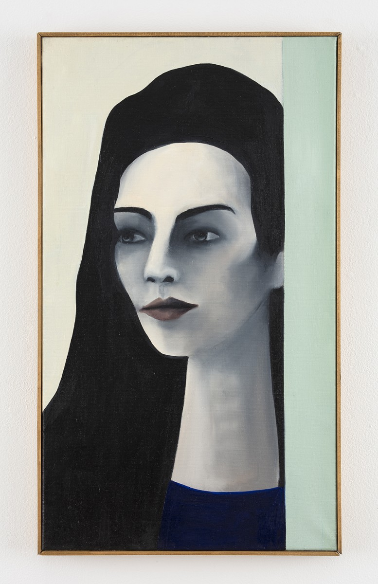 Rebecca Brodskis. <em>The Queen of Volksbühne</em>, 2020. Oil on linen, 27 1/2 x 15 3/4 inches (70 x 40 cm)
