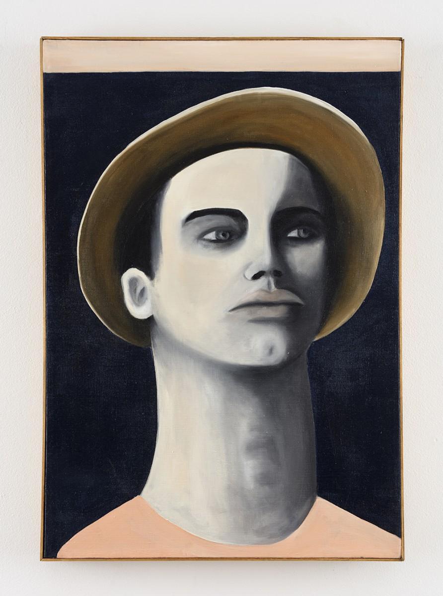 Rebecca Brodskis. <em>Martinow</em>, 2020. Oil on linen, 31 7/8 x 22 inches (81 x 56 cm)