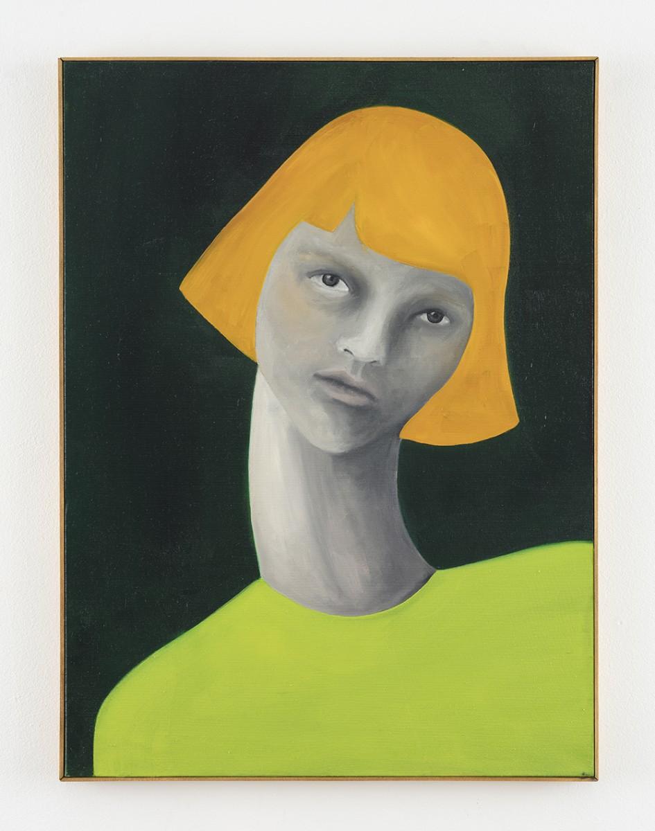 Rebecca Brodskis. <em>Masha</em>, 2020. Oil on linen, 31 7/8 x 23 5/8 inches (81 x 60 cm)
