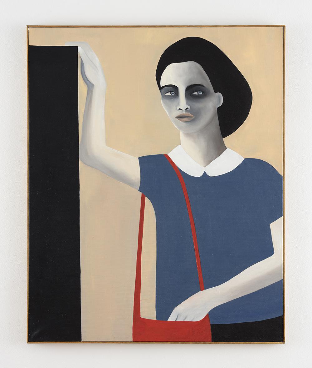 Rebecca Brodskis. <em>Le Sac Dérobé</em>, 2020. Oil on linen, 39 3/8 x 31 7/8 inches (100 x 81 cm)