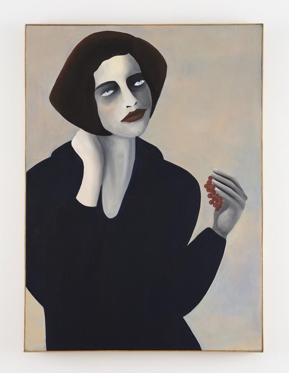 Rebecca Brodskis. <em>Le Fruit Défendu</em>, 2020. Oil on linen, 43 3/4 x 31 7/8 inches (111 x 81 cm)