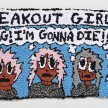 Hannah Epstein. <em>OMG I'M GONNA DIE</em>, 2020. Wool, acrylic, cotton and burlap, 20 x 36 inches (50.8 x 91.4 cm) thumbnail