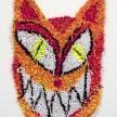 Hannah Epstein. <em>Neon God</em>, 2020. Acrylic, cotton, burlap and spray paint, 30 x 19 inches (76.2 x 48.3 cm) thumbnail