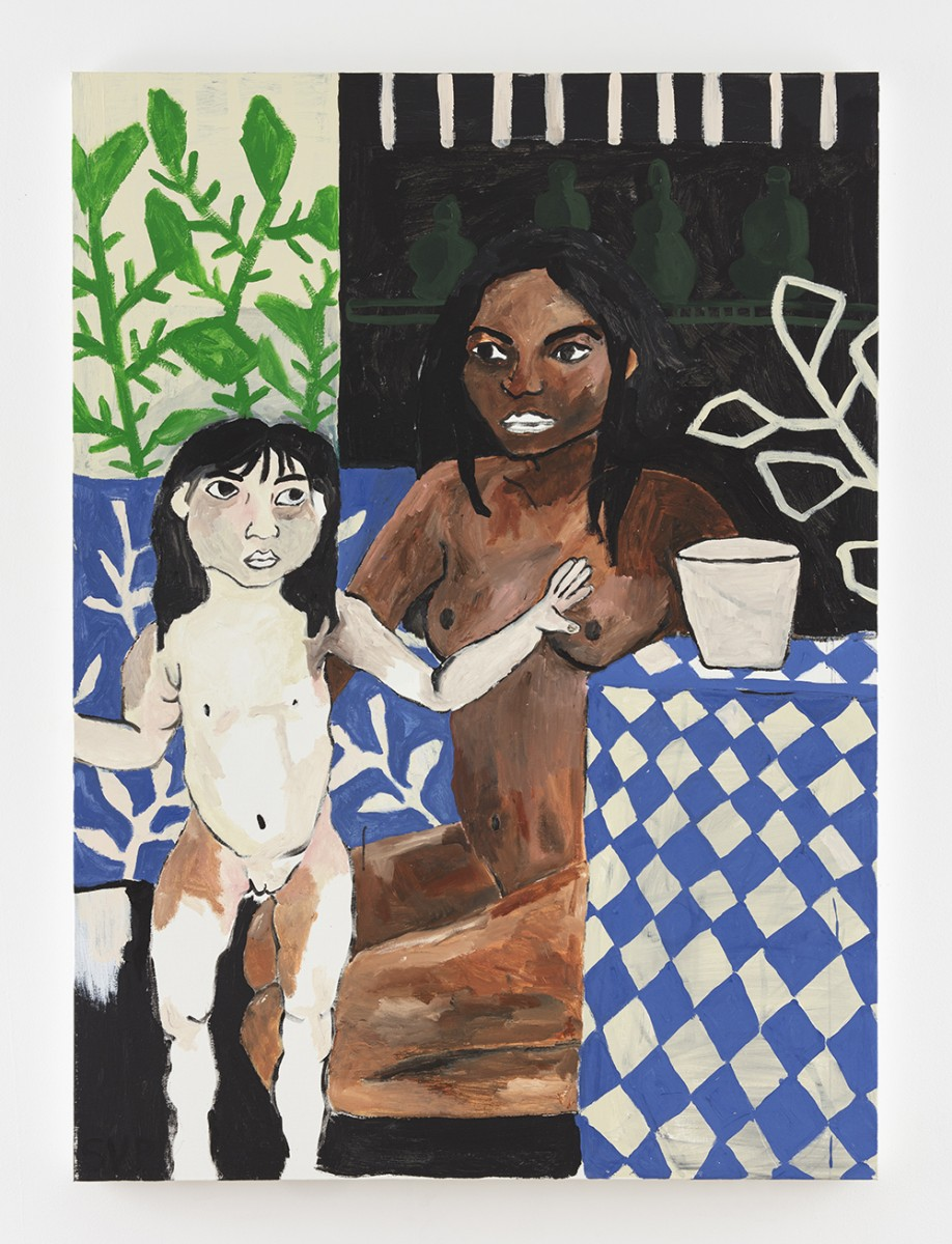 Shirley Villavicencio Pizango. <em>And if it Wasn't You</em>, 2020. Acrylic on canvas, 65 x 47 1/4 inches (165 x 120 cm)