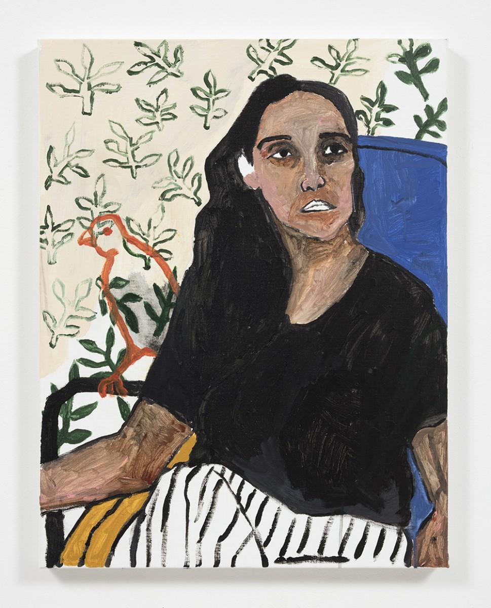 Shirley Villavicencio Pizango. <em>Whispers of Nostalgia</em>, 2020. Acrylic on canvas, 27 1/2 x 21 1/4 inches (70 x 54 cm)