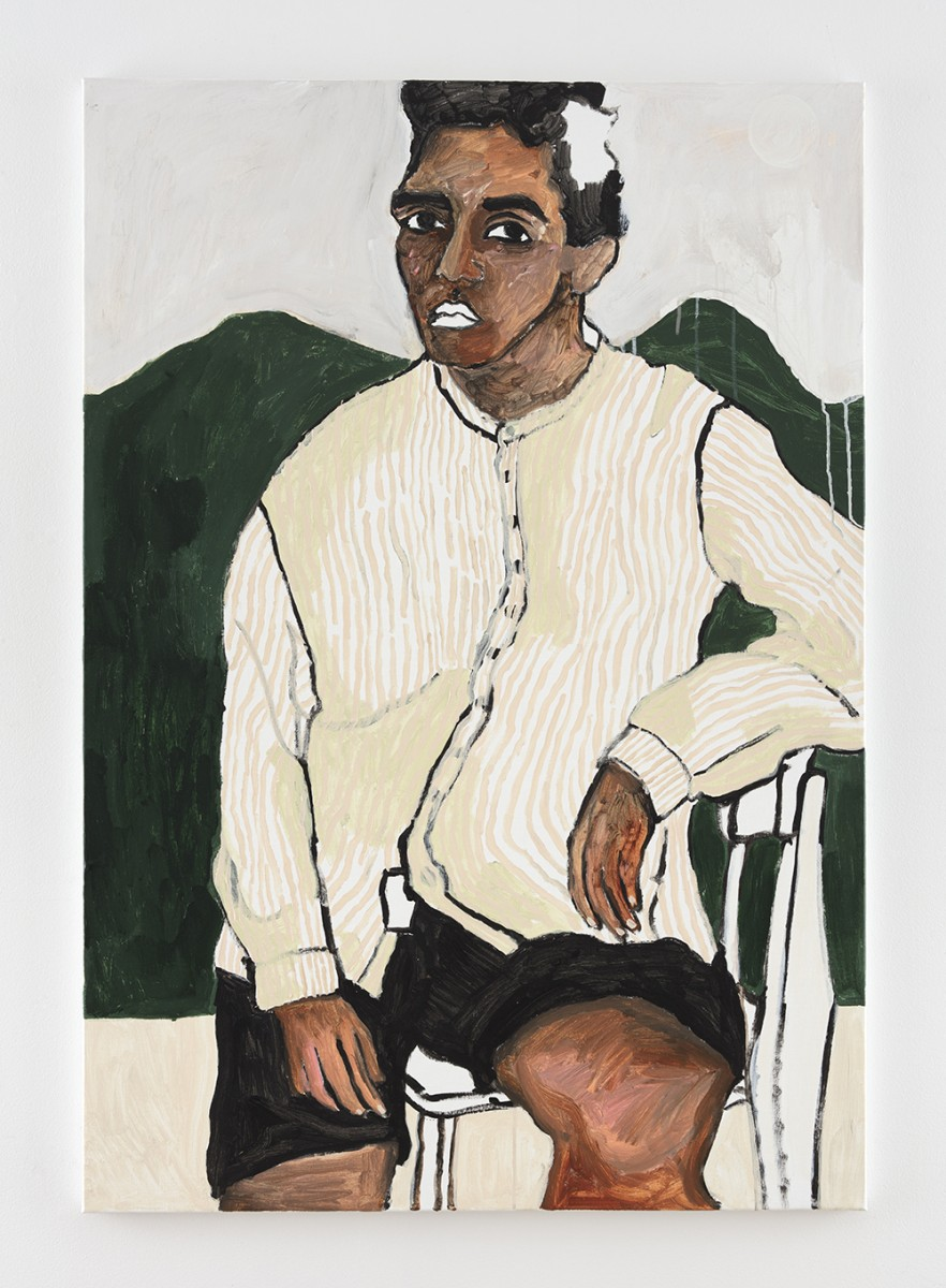 Shirley Villavicencio Pizango. <em>Companion of Absence</em>, 2020. Acrylic on canvas, 51 1/8 x 35 3/8 inches (130 x 90 cm)