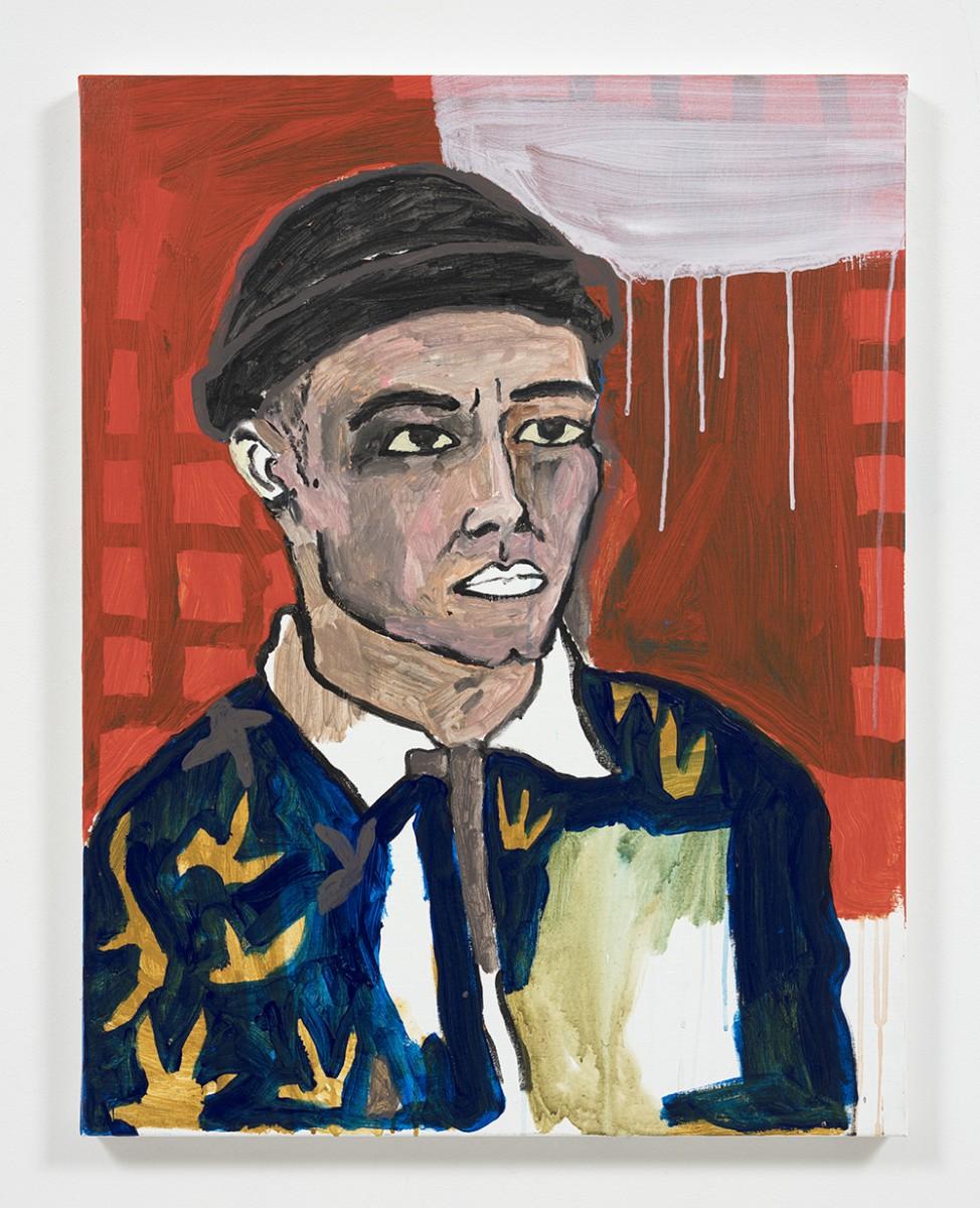 Shirley Villavicencio Pizango. <em>His Days Come at Night</em>, 2020. Acrylic on canvas, 35 3/8 x 27 1/2 inches (90 x 70 cm)