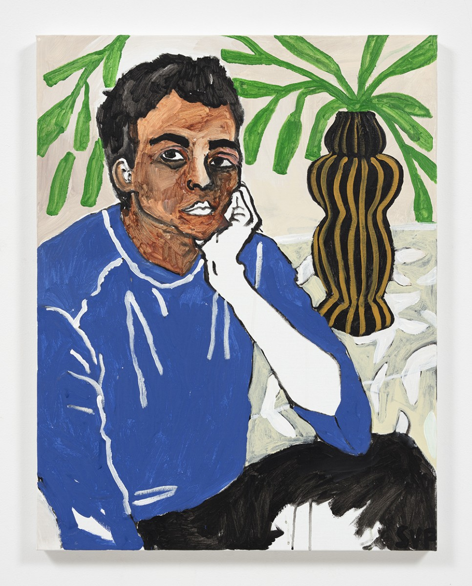 Shirley Villavicencio Pizango. <em>Reaching Your Side</em>, 2020. Acrylic on canvas, 35 3/8 x 27 1/2 inches (90 x 70 cm)