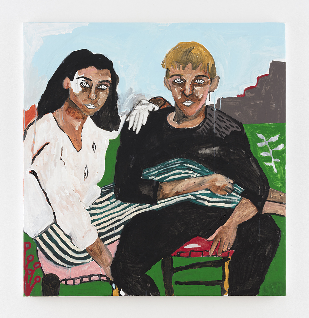 Shirley Villavicencio Pizango. <em>Between Two that are Three</em>, 2020. Acrylic on canvas, 49 1/4 x 47 1/4 inches (125 x 120 cm)