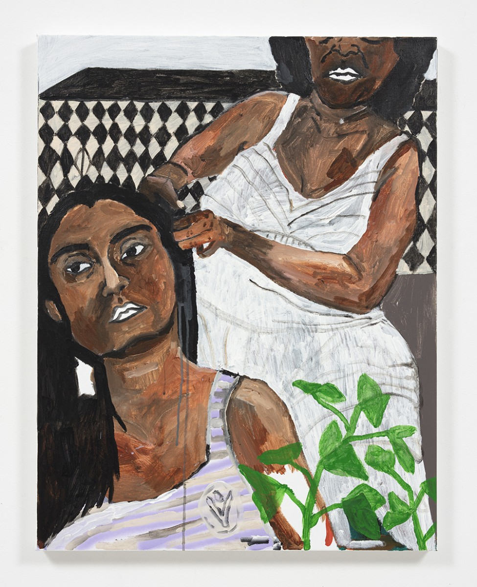 Shirley Villavicencio Pizango. <em>Speaking Without Words</em>, 2020. Acrylic on canvas, 35 3/8 x 27 1/2 inches (90 x 70 cm)