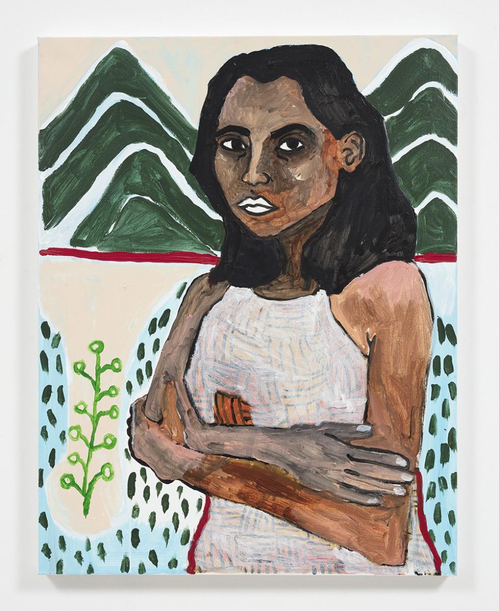 Shirley Villavicencio Pizango. <em>Hole in Chiclayo Avenue</em>, 2020. Acrylic on canvas, 35 3/8 x 27 1/2 inches (90 x 70 cm)