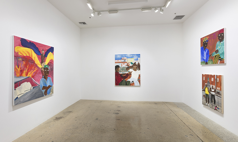 <em>I Was Tempted To Throw My Phone In The River</em>. Installation view, Steve Turner, 2020