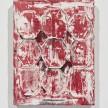 Aryana Minai. <em>Nine octagon shells</em>, 2019. Acrylic and plaster on canvas, 15 x 11 3/4 inches (38.1 x 29.8 cm) thumbnail