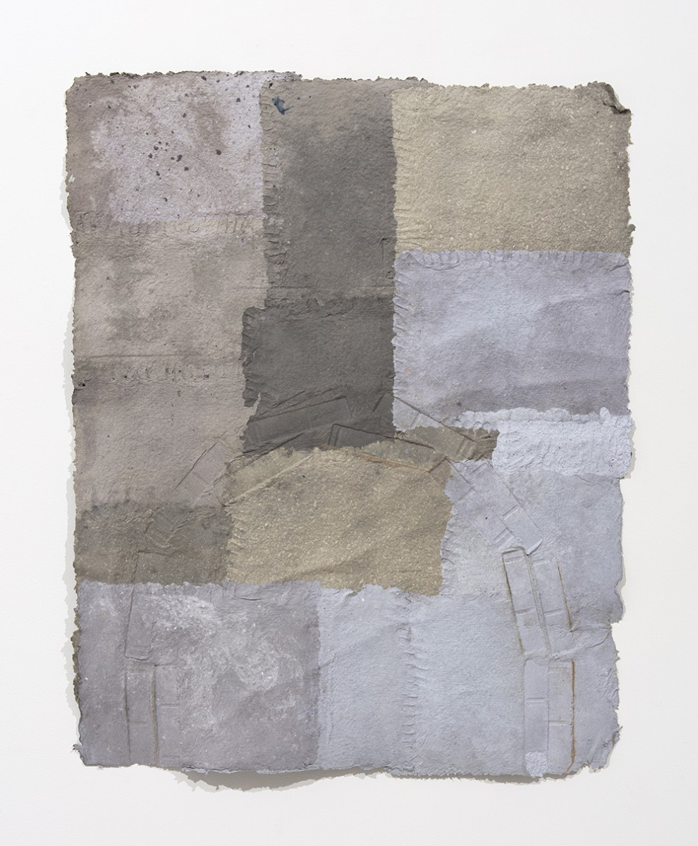 Aryana Minai. <em>The Weight Above an Arch</em>, 2020. Dyed handmade paper, 51 x 41 inches (129.5 x 104.1 cm)
