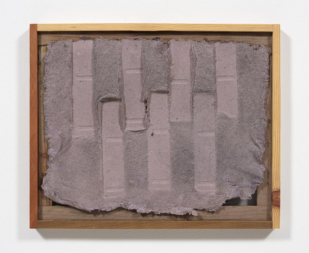 Aryana Minai. <em>Echo III</em>, 2020. Dyed handmade paper in artist frame, 16 x 19 1/2 inches (40.6 x 49.5 cm)