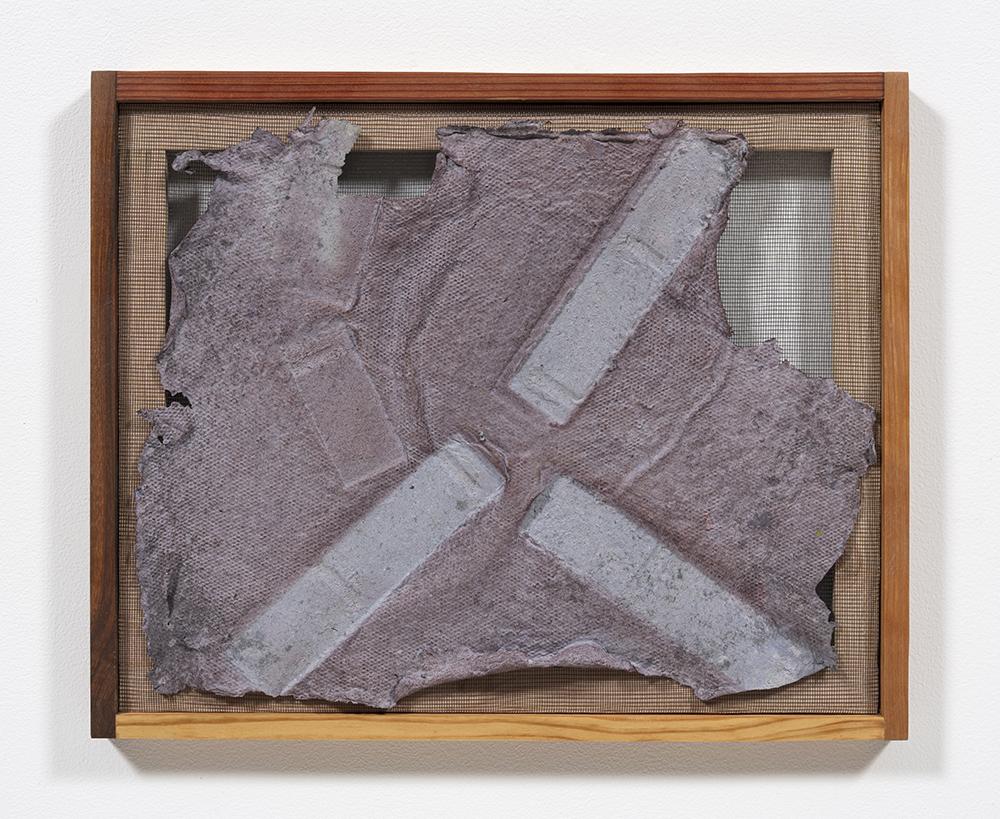 Aryana Minai. <em>Echo IV</em>, 2020. Dyed handmade paper in artist frame, 16 x 19 1/2 inches (40.6 x 49.5 cm)