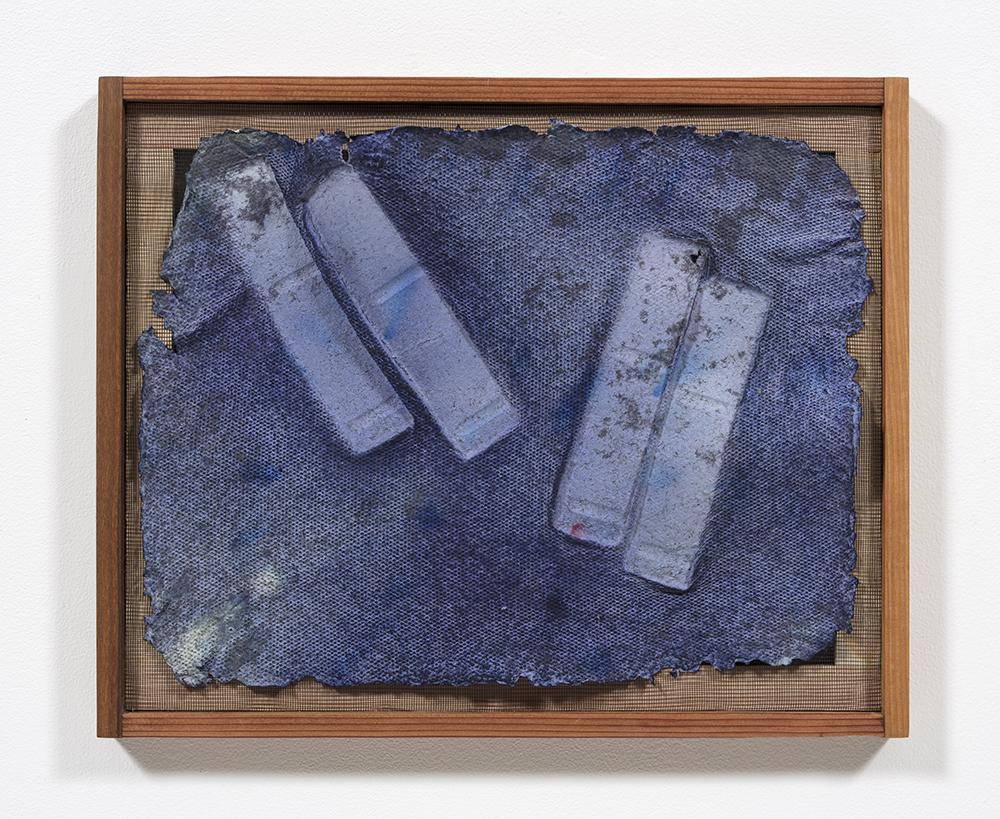 Aryana Minai. <em>Echo VI</em>, 2020. Dyed handmade paper in artist frame, 16 x 19 1/2 inches (40.6 x 49.5 cm)