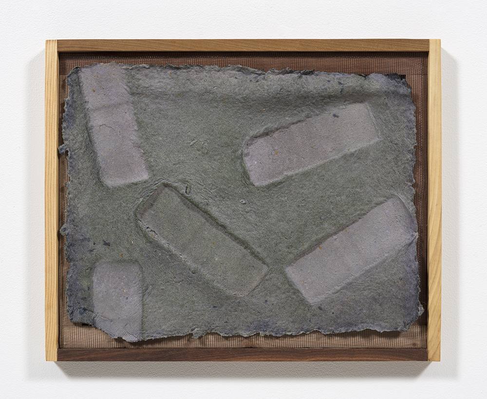 Aryana Minai. <em>Echo VIII</em>, 2020. Dyed handmade paper in artist frame, 16 x 19 1/2 inches (40.6 x 49.5 cm)