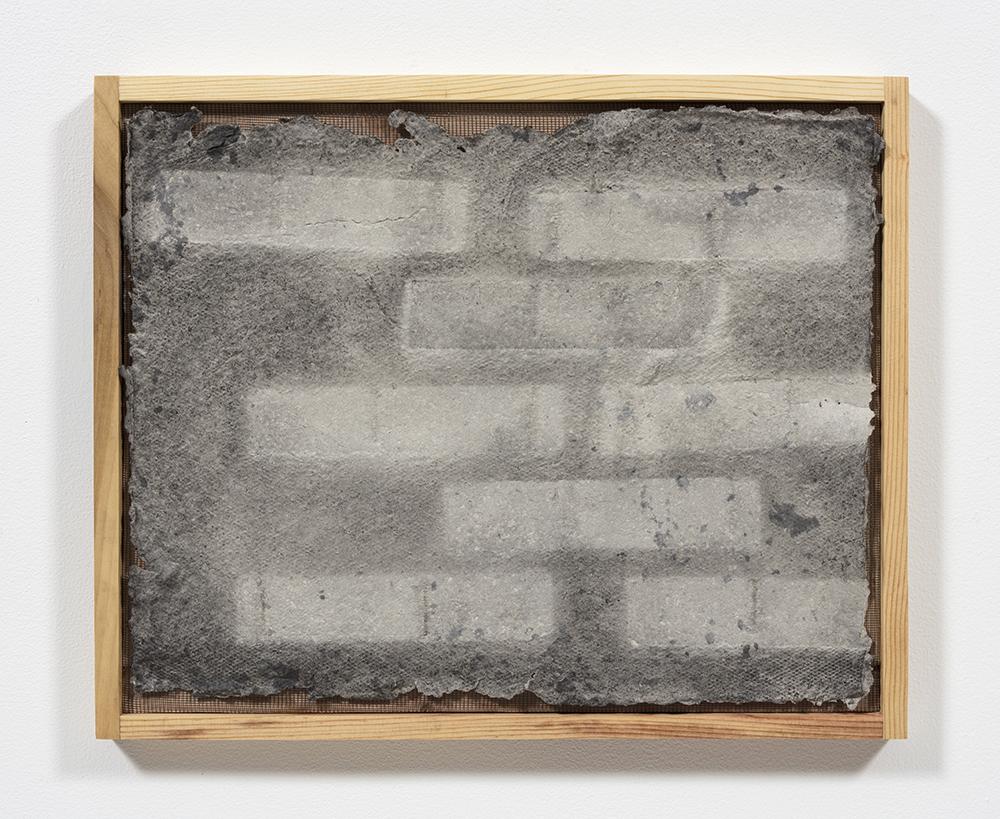 Aryana Minai. <em>Echo X</em>, 2020. Dyed handmade paper in artist frame, 16 x 19 1/2 inches (40.6 x 49.5 cm)