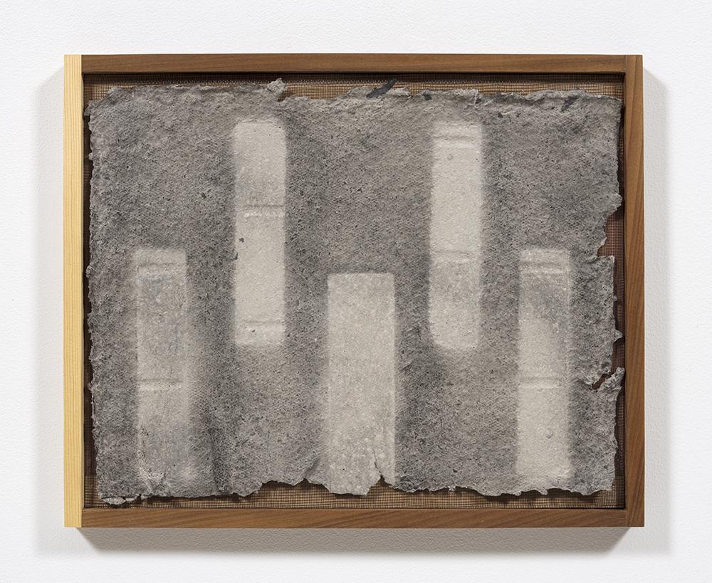 Aryana Minai. <em>Echo XI</em>, 2020. Dyed handmade paper in artist frame, 16 x 19 1/2 inches (40.6 x 49.5 cm)