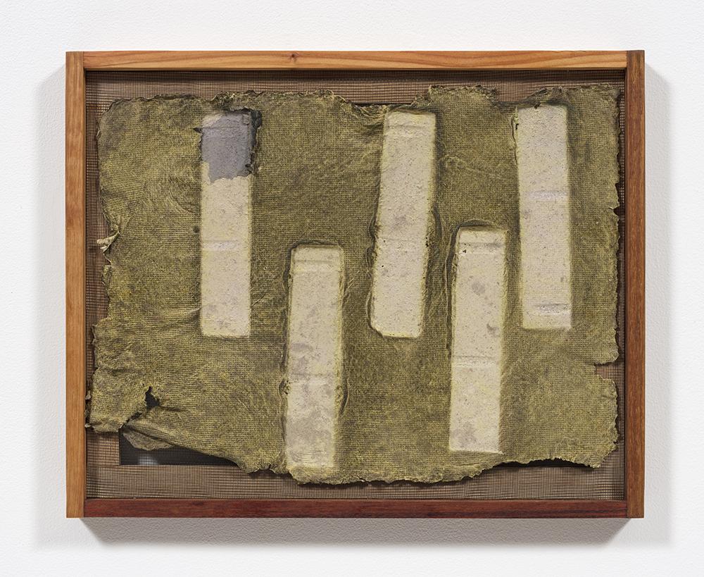 Aryana Minai. <em>Echo XII</em>, 2020. Dyed handmade paper in artist frame, 16 x 19 1/2 inches (40.6 x 49.5 cm)