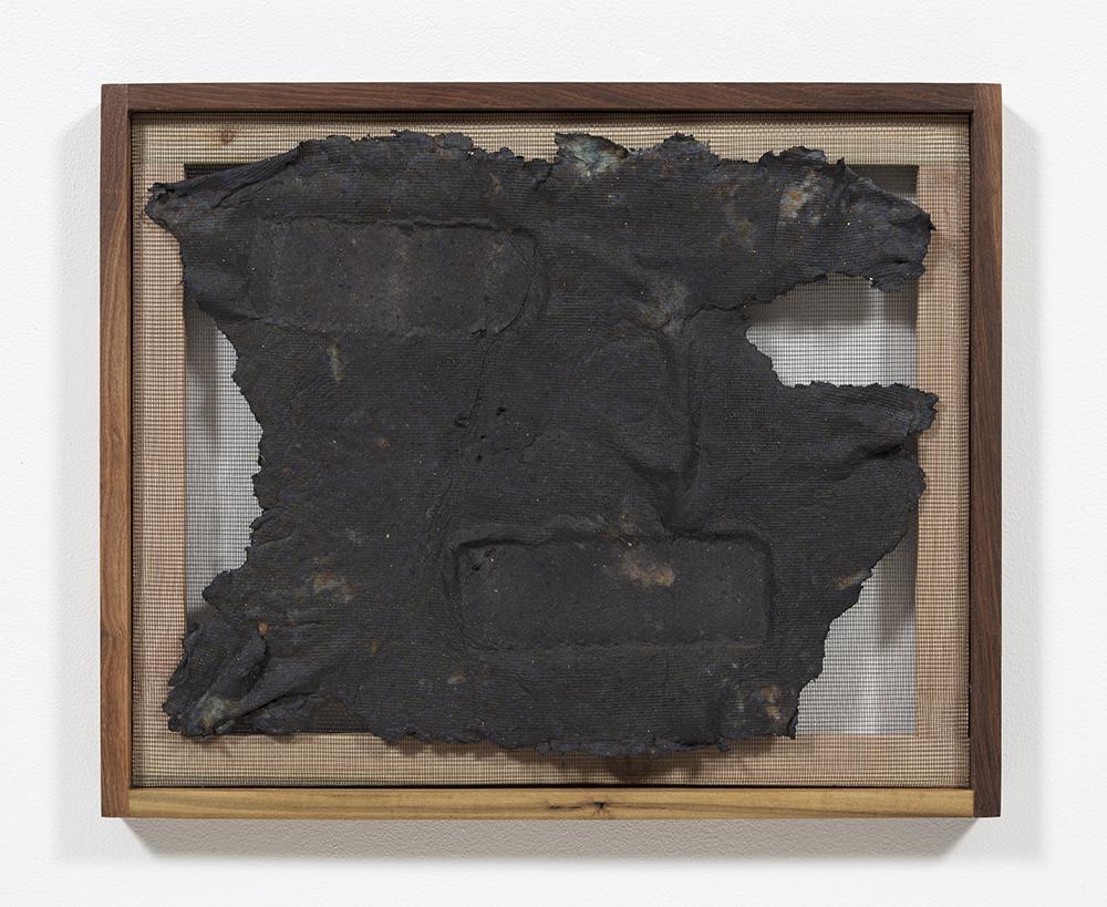 Aryana Minai. <em>Echo XIII</em>, 2020. Dyed handmade paper in artist frame, 16 x 19 1/2 inches (40.6 x 49.5 cm)