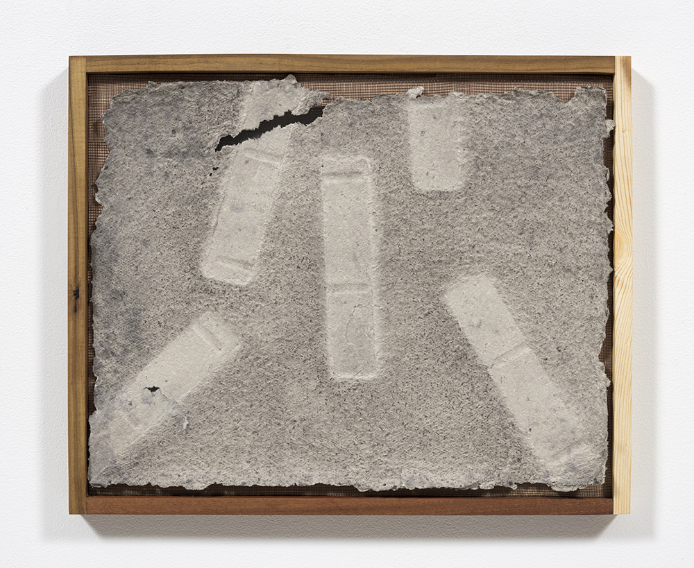 Aryana Minai. <em>Echo XIV</em>, 2020. Dyed handmade paper in artist frame, 16 x 19 1/2 inches (40.6 x 49.5 cm)