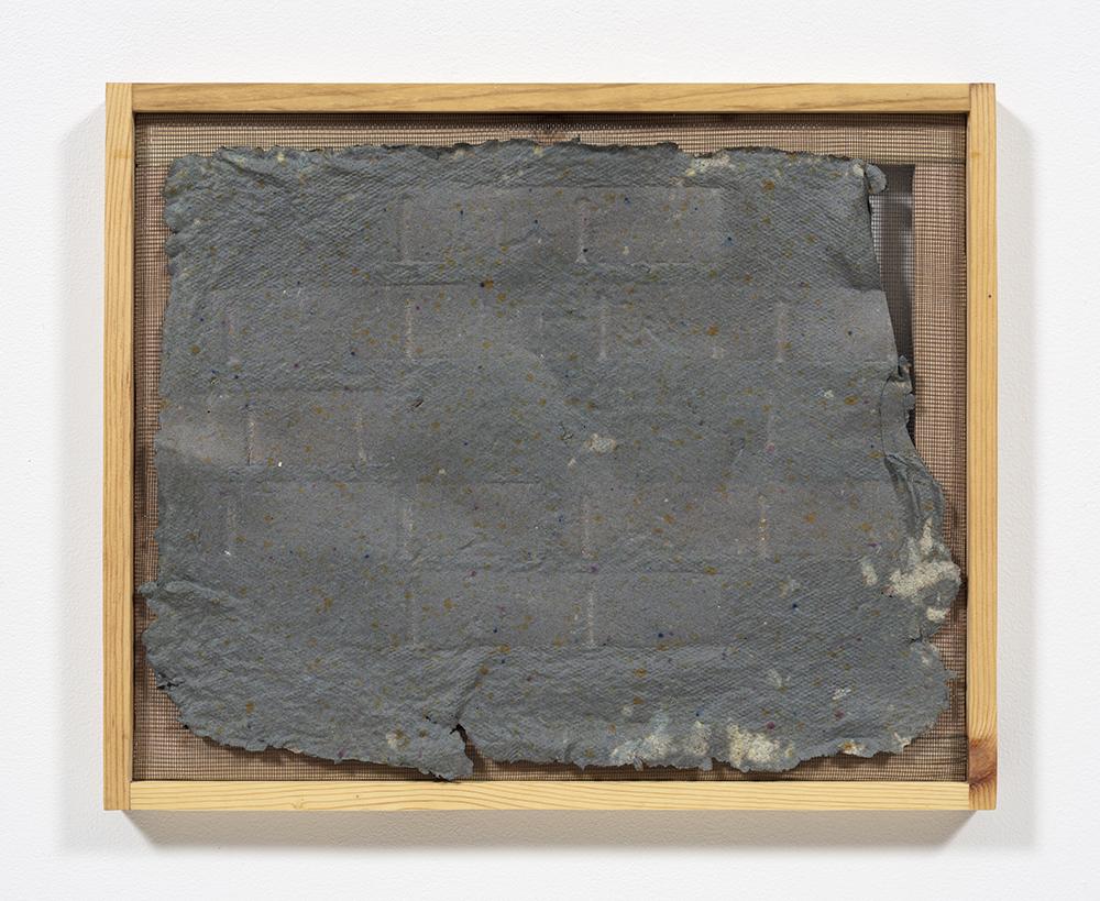 Aryana Minai. <em>Echo XV</em>, 2020. Dyed handmade paper in artist frame, 16 x 19 1/2 inches (40.6 x 49.5 cm)