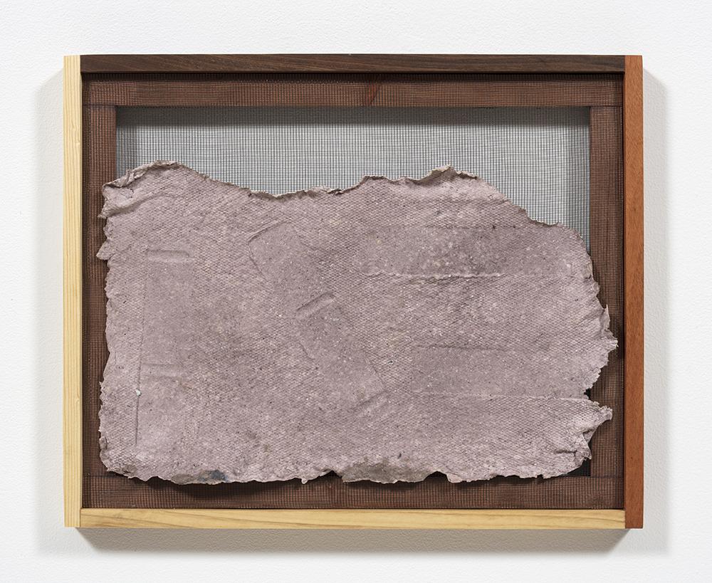 Aryana Minai. <em>Echo XVII</em>, 2020. Dyed handmade paper in artist frame, 16 x 19 1/2 inches (40.6 x 49.5 cm)
