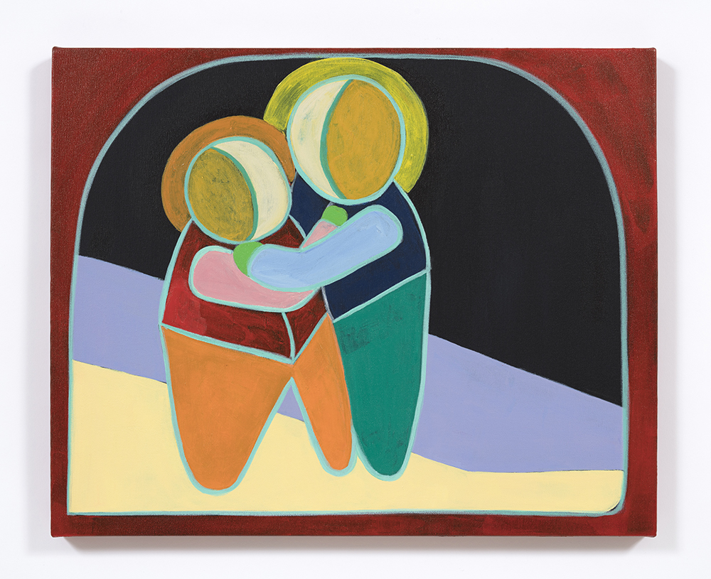 Gabby Rosenberg. <em>Reunited</em>, 2020. Acrylic on canvas, 15 x 20 inches (38.1 x 50.8 cm)
