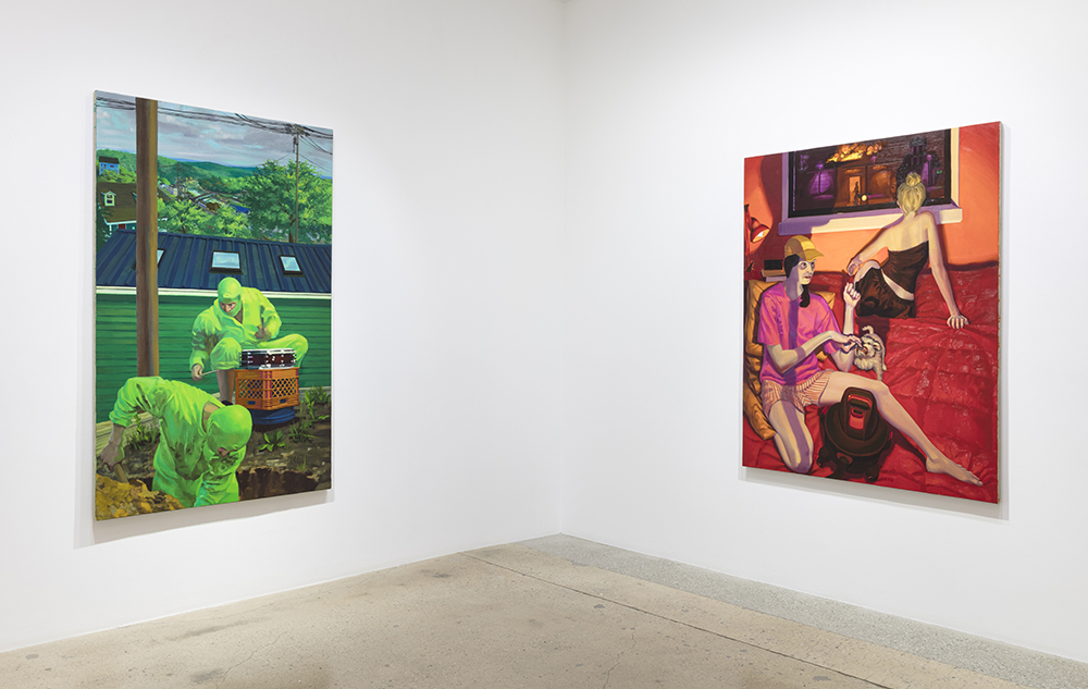 <em>like a lion, my hands and my feet</em>. Installation view, Steve Turner, 2020