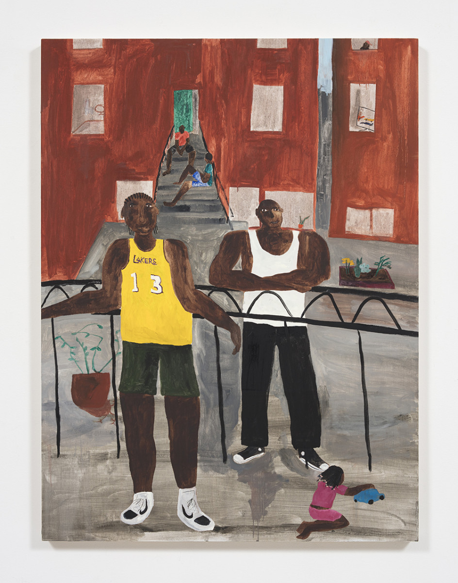 Marcus Leslie Singleton. <em>Bergen Street No. 2</em>, 2020. Oil on wood panel, 40 x 30 inches (101.6 x 76.2 cm)