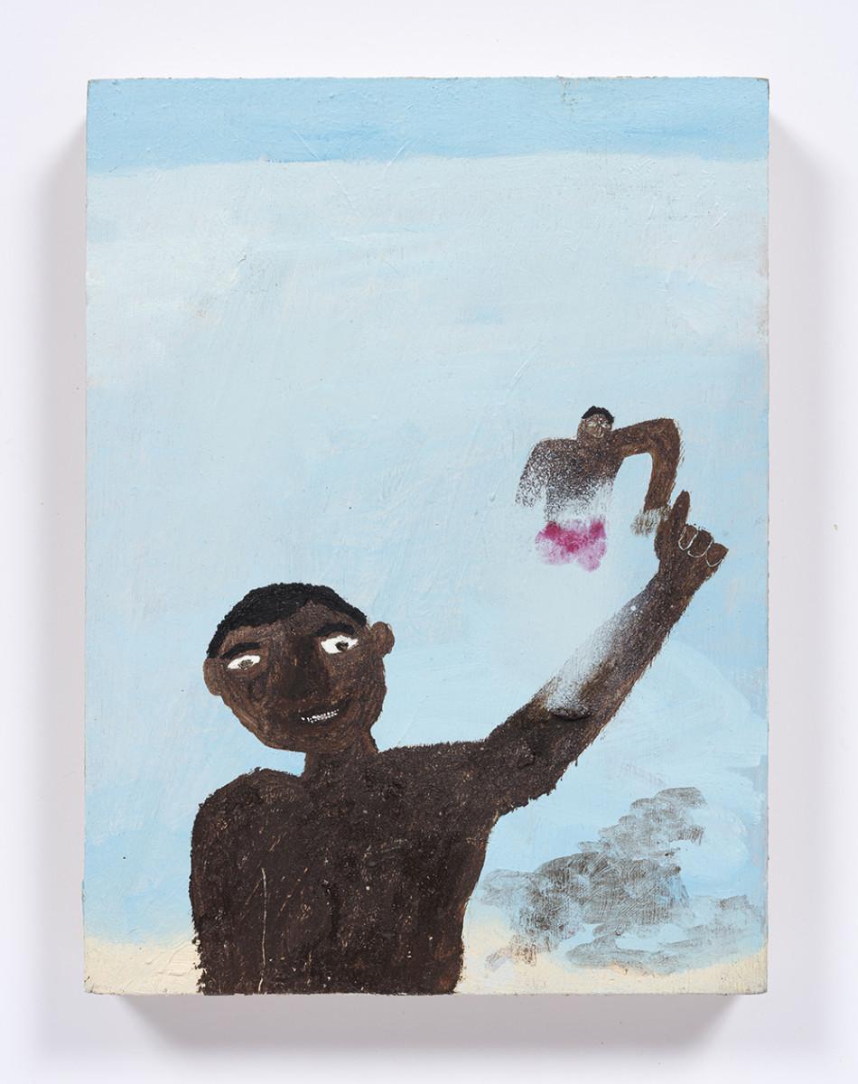 Marcus Leslie Singleton. <em>Divani & Maykel</em>, 2020. Oil on wood panel, 8 x 6 inches (20.3 x 15.2 cm)
