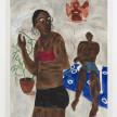 Marcus Leslie Singleton. <em>Our Loving Ancestors</em>, 2020. Oil and spray paint on linen, 60 x 48 inches (152.4 x 121.9 cm) thumbnail