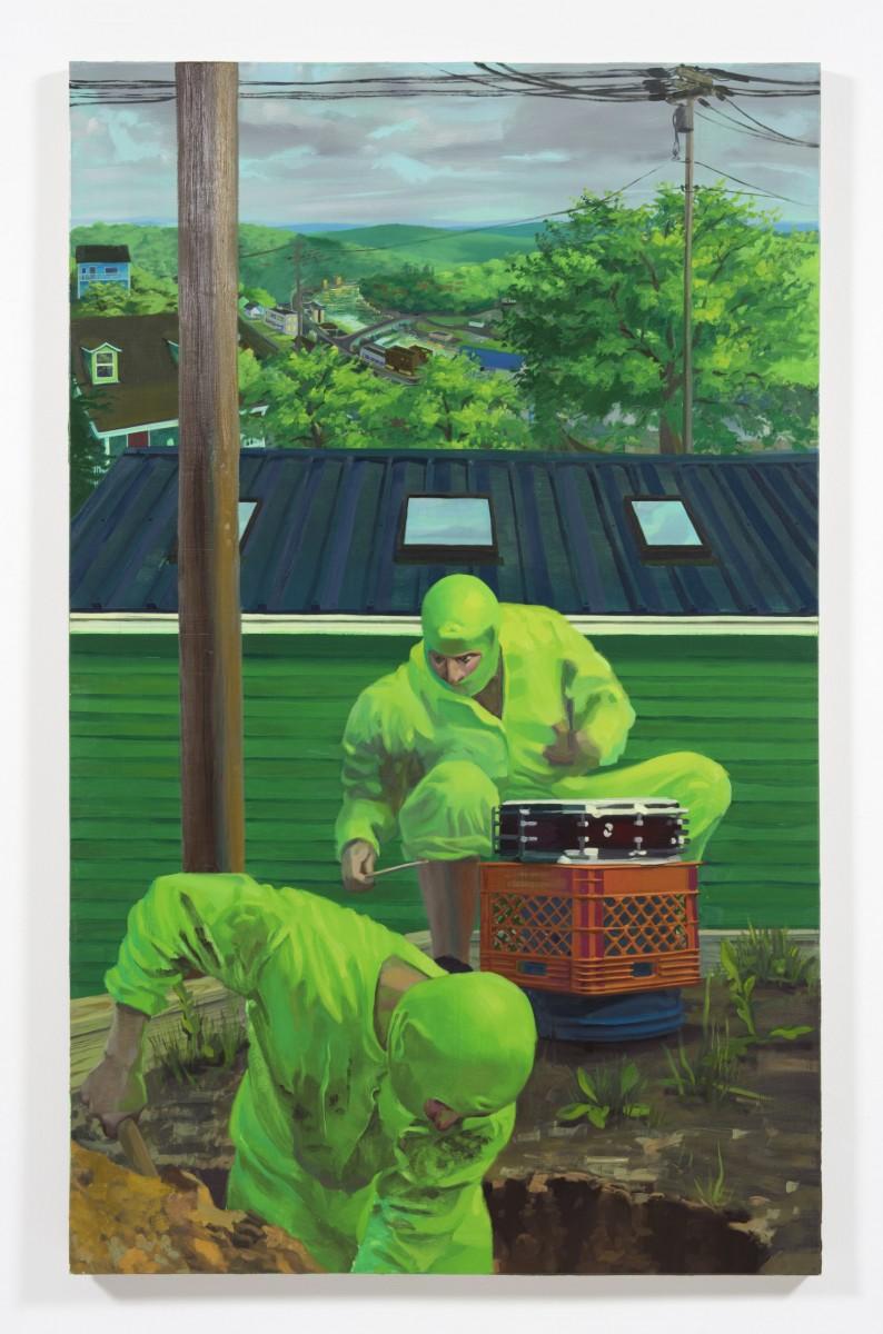 Patrick Bayly. <em>green, garden</em>, 2020. Oil on linen, 79 x 49 inches (200.7 x 124.5 cm)