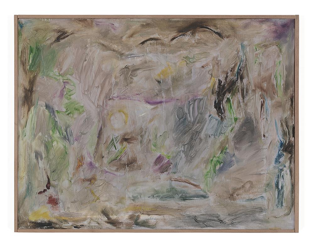 Joaquín Boz. <em>Untitled</em>, 2020. Oil on panel in artist's frame, 17 3/4 x 23 1/4 inches (45.2 x 59 cm)