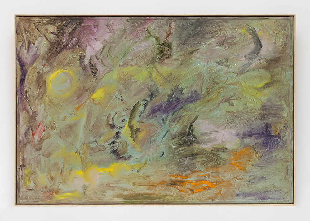 Joaquín Boz. <em>Untitled</em>, 2020. Oil on panel in artist's frame, 19 1/8 x 28 1/8 inches (48.7 x 71.5 cm)