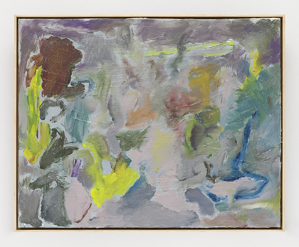 Joaquín Boz. <em>Untitled</em>, 2020. Oil on panel, 13 5/8 x 16 7/8 inches (34.5 x 43 cm)